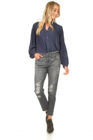 7 For All Mankind |  Destroyed boyfriend jeans Asher | grey  | Picture 2
