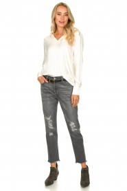 7 For All Mankind |  Destroyed boyfriend jeans Asher | grey  | Picture 3