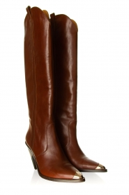 Toral :  Leather knee boots Gan | brown - img5