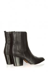 Toral |  Leather ankle boots with scales pattern Jill | black  | Picture 5