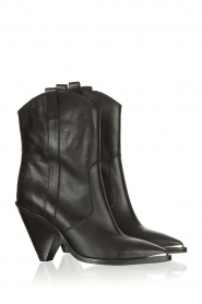 Toral :  Leather ankle boots Elisio | black - img5