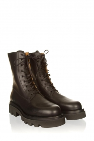 Toral :  Leather lace-up boots London | black - img4