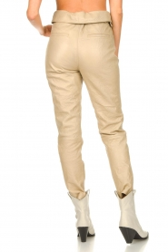 Dante 6 |  Leather belted pants Zola | beige  | Picture 7