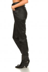 Dante 6 |  Leather pants with belt Zola | black  | Picture 6