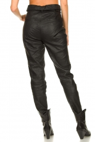 Dante 6 |  Leather pants with belt Zola | black  | Picture 7