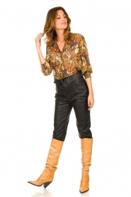 Dante 6 |  Leather pants with belt Zola | black  | Picture 3