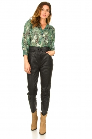 Dante 6 |  Leather pants with belt Zola | black  | Picture 4