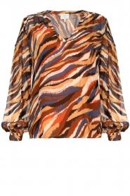 Dante 6 |  V-neck printed blouse Benson | multi  | Picture 1