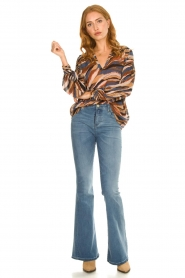 Dante 6 |  V-neck printed blouse Benson | multi  | Picture 3