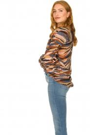 Dante 6 |  V-neck printed blouse Benson | multi  | Picture 6