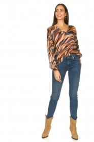 Dante 6 |  V-neck printed blouse Benson | multi  | Picture 4