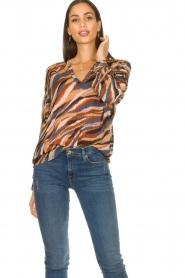 Dante 6 |  V-neck printed blouse Benson | multi  | Picture 2