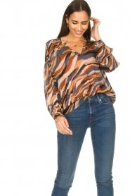 Dante 6 |  V-neck printed blouse Benson | multi  | Picture 5