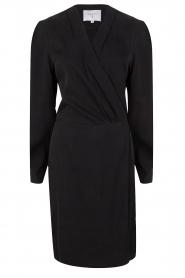 Dante 6 | V-hals jurk Tabatha | zwart  | Afbeelding 1