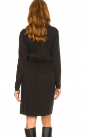 Dante 6 | V-hals jurk Tabatha | zwart  | Afbeelding 6