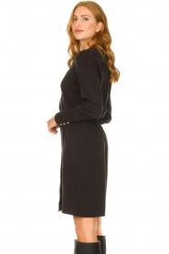 Dante 6 | V-hals jurk Tabatha | zwart  | Afbeelding 5