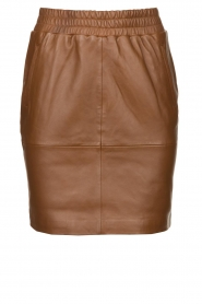 Dante 6 |  Leather skirt Dyna | brown  | Picture 1