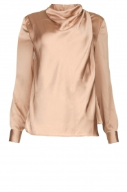 Dante 6 |  Blouse with draped neckline Illusion | pink  | Picture 1