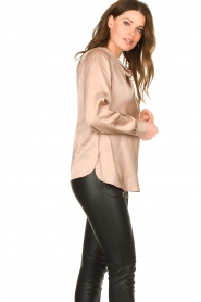 Dante 6 |  Blouse with draped neckline Illusion | pink  | Picture 4