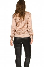 Dante 6 |  Blouse with draped neckline Illusion | pink  | Picture 5
