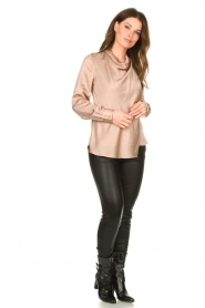 Dante 6 |  Blouse with draped neckline Illusion | pink  | Picture 3