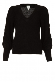 Dante 6 |  V-neck sweater with balloon sleeves Broame | black  | Picture 1