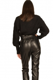Dante 6 |  V-neck sweater with balloon sleeves Broame | black  | Picture 7