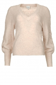 Dante 6 |  V-neck sweater with balloon sleeves Broame | naturel  | Picture 1