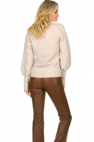 Dante 6 |  V-neck sweater with balloon sleeves Broame | naturel  | Picture 6