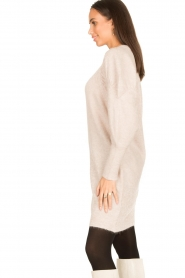 Dante 6 |  Sweater dress with puff sleeves Littal | naturel  | Picture 6