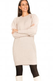 Dante 6 |  Sweater dress with puff sleeves Littal | naturel  | Picture 5