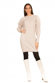 Dante 6 |  Sweater dress with puff sleeves Littal | naturel  | Picture 3