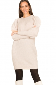 Dante 6 |  Sweater dress with puff sleeves Littal | naturel  | Picture 2
