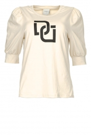 Dante 6 |  T-shirt with puff sleeves Monogram | naturel  | Picture 1