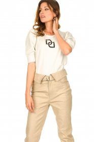 Dante 6 |  T-shirt with puff sleeves Monogram | naturel  | Picture 5
