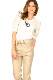 Dante 6 |  T-shirt with puff sleeves Monogram | naturel  | Picture 4