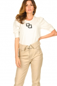Dante 6 |  T-shirt with puff sleeves Monogram | naturel  | Picture 2