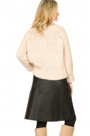 Dante 6 |  Leather skirt with tie belt Noora | black  | Picture 6
