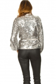 Dante 6 |  Sequin cardigan Quandy | silver  | Picture 6