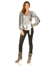 Dante 6 |  Sequin cardigan Quandy | silver  | Picture 3