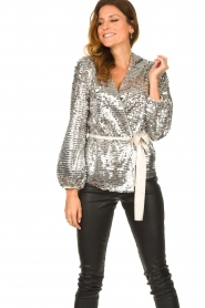 Dante 6 |  Sequin cardigan Quandy | silver  | Picture 2
