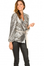 Dante 6 |  Sequin cardigan Quandy | silver  | Picture 4