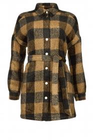 Dante 6 |  Checkered shirt coat Trucker | brown  | Picture 1
