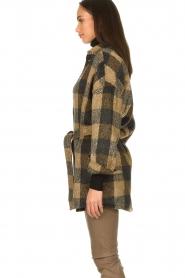 Dante 6 |  Checkered shirt coat Trucker | brown  | Picture 5
