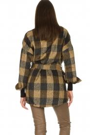 Dante 6 |  Checkered shirt coat Trucker | brown  | Picture 7