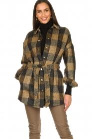 Dante 6 |  Checkered shirt coat Trucker | brown  | Picture 4