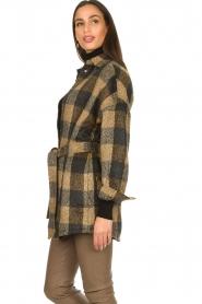 Dante 6 |  Checkered shirt coat Trucker | brown  | Picture 6