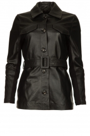 Dante 6 |  Leather blouse Dwight | black  | Picture 1