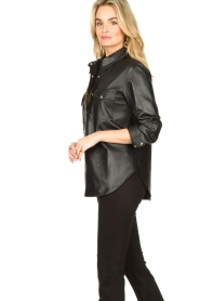 Dante 6 |  Leather blouse Dwight | black  | Picture 5