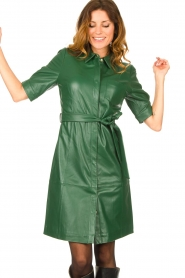 Dante 6 :  Leather dress Chandler | green - img2